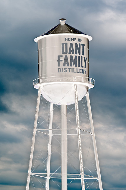 Dant Family Distillery water tower
