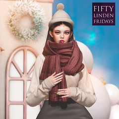 ::{u.f.o}::happy holiday hat / huggable muffler @ FLF
