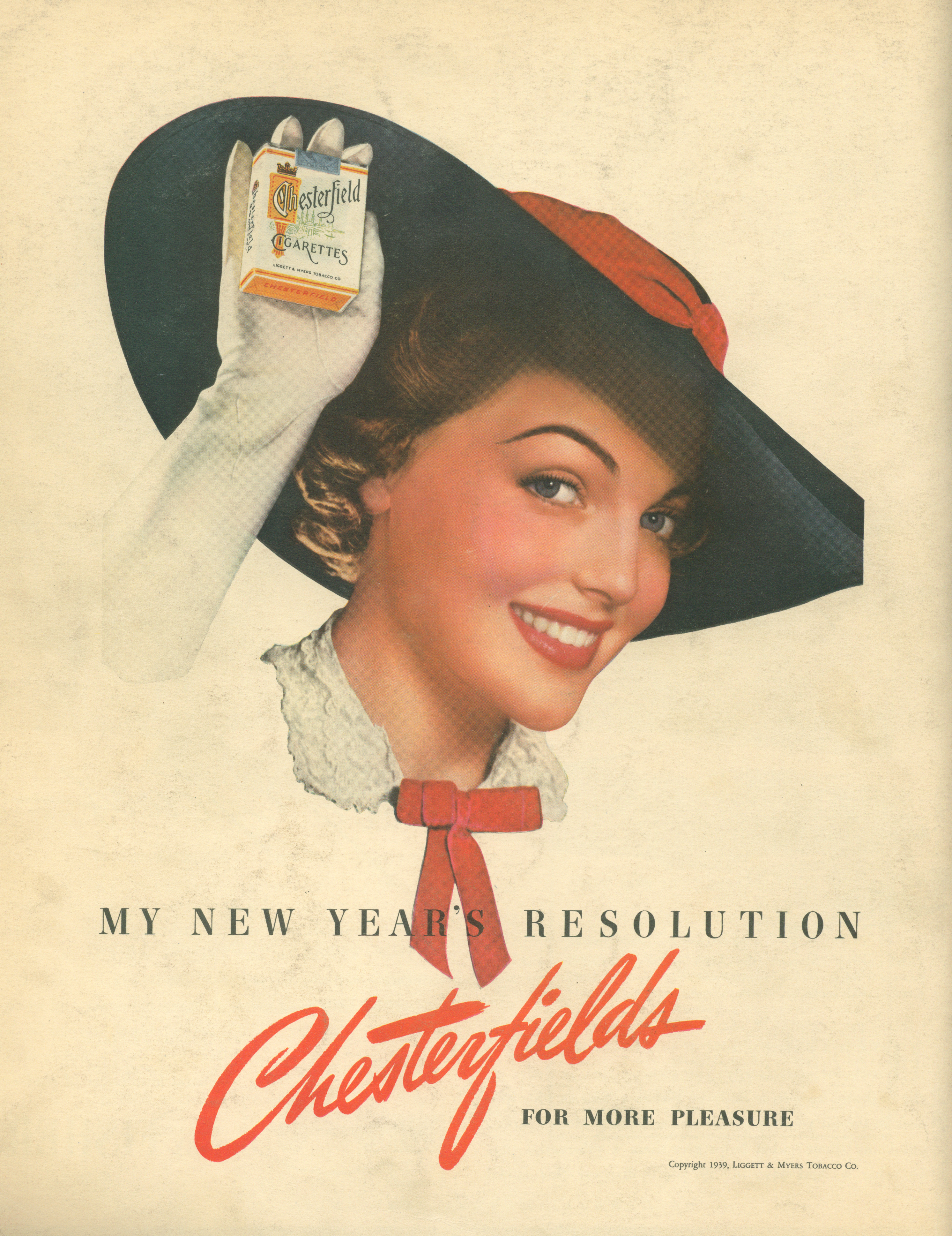 Chesterfield Cigarettes - published in Fortune - January 1939