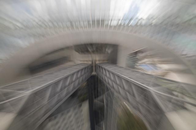 The two escalator tubes