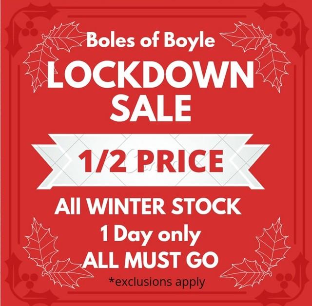 Boles of Boyle - Lockdown Sale