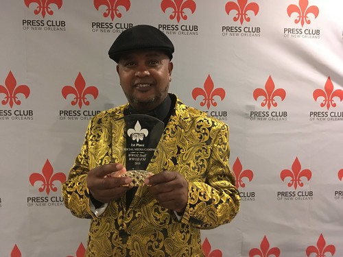Action Jackson with the Takin' It To The Streets Press Club of New Orleans Award.