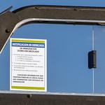 Minneapolis Police Squad Car Immigration Notice