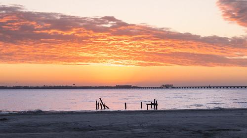gulfcoast morning cloudporn hancockcounty sunrise baysaintlouis dawn hancockcountymississippi mississippi clouds mississippigulfcoast gulfofmexico