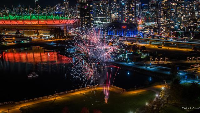 2020 - Vancouver - Creekside Park Fireworks - 1 of 2