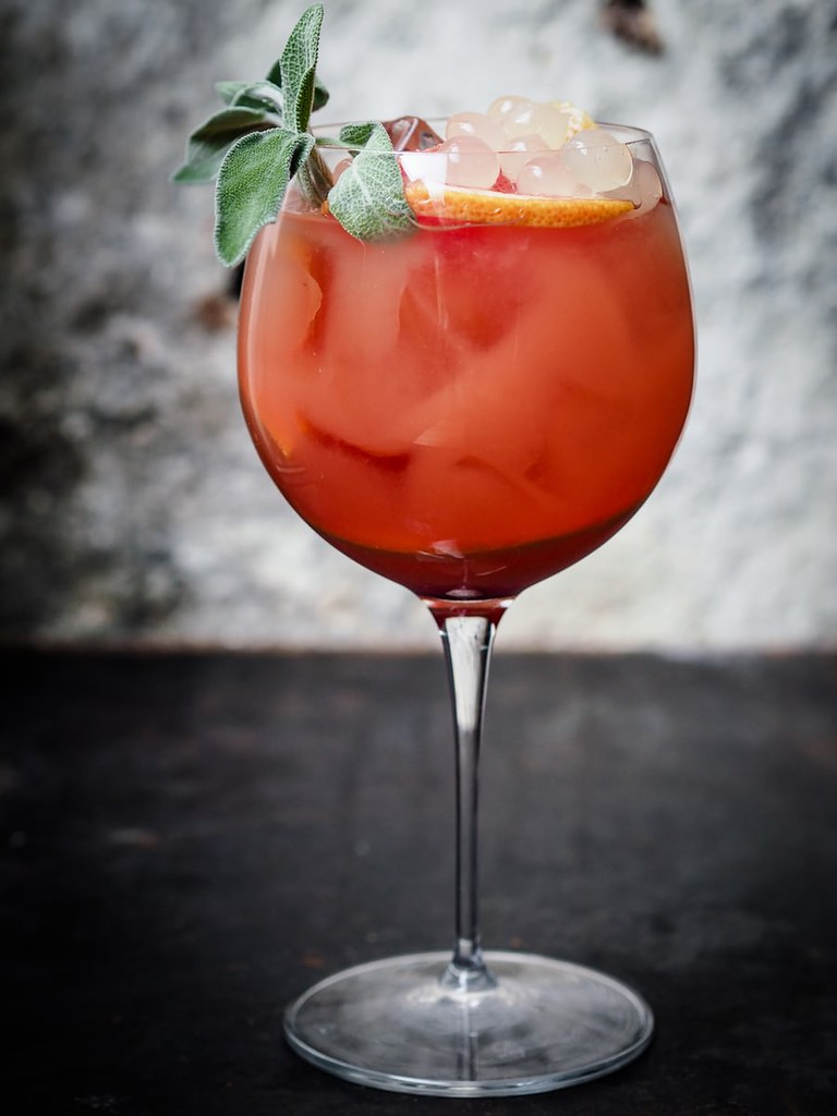 Holly Jolly Festive Citrus Cocktail