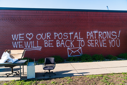 We Love Our Postal Patrons! We Will Be Back to Serve You