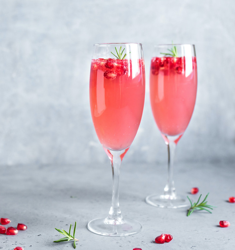 Festive Cocktail - Pomegranate French 75