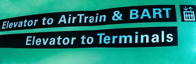 elevator to airtrain and bart