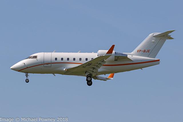 VP-BJE - 2005 build Bombardier Challenger 604, inbound to Zurich
