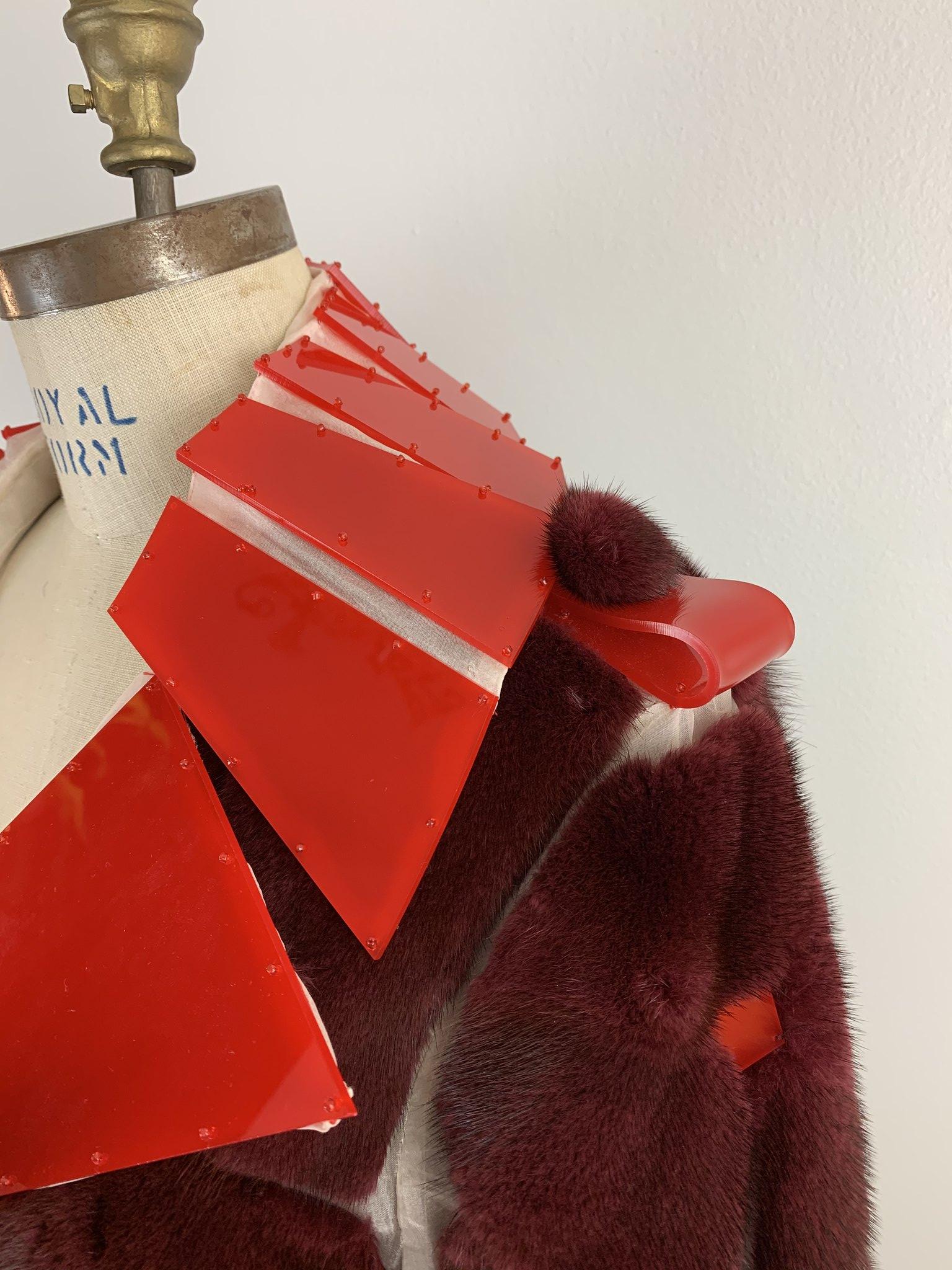 Mink and organza coat