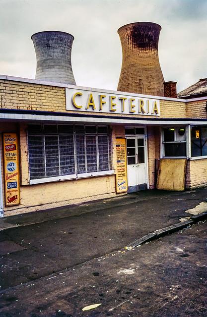 Cafeteria, West Ham Power Station, West Ham, 1983 83-07-WestHam-004