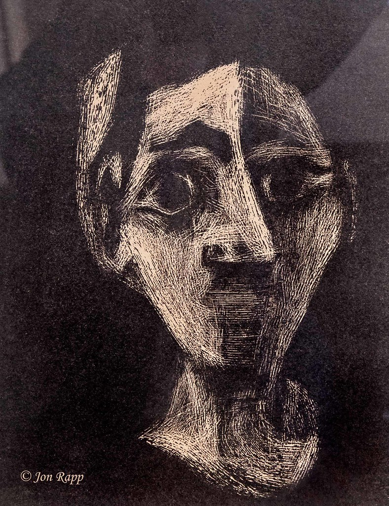 1962 Jacqueline With Headband linocutt by Pablo Picasso (SBG) (edit)