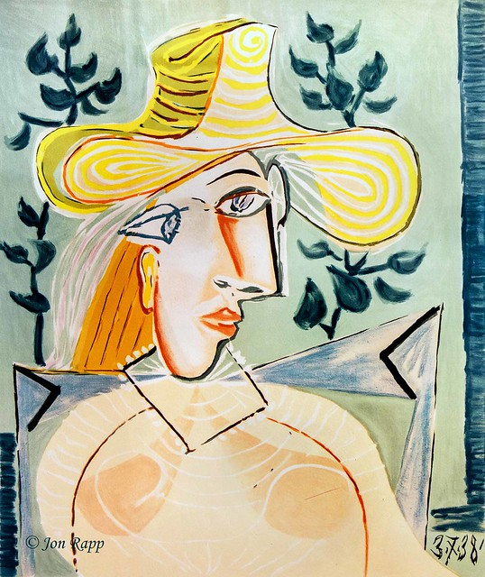 1938 Woman With Collar lithograph by Pablo Picasso (SBG) (edit)