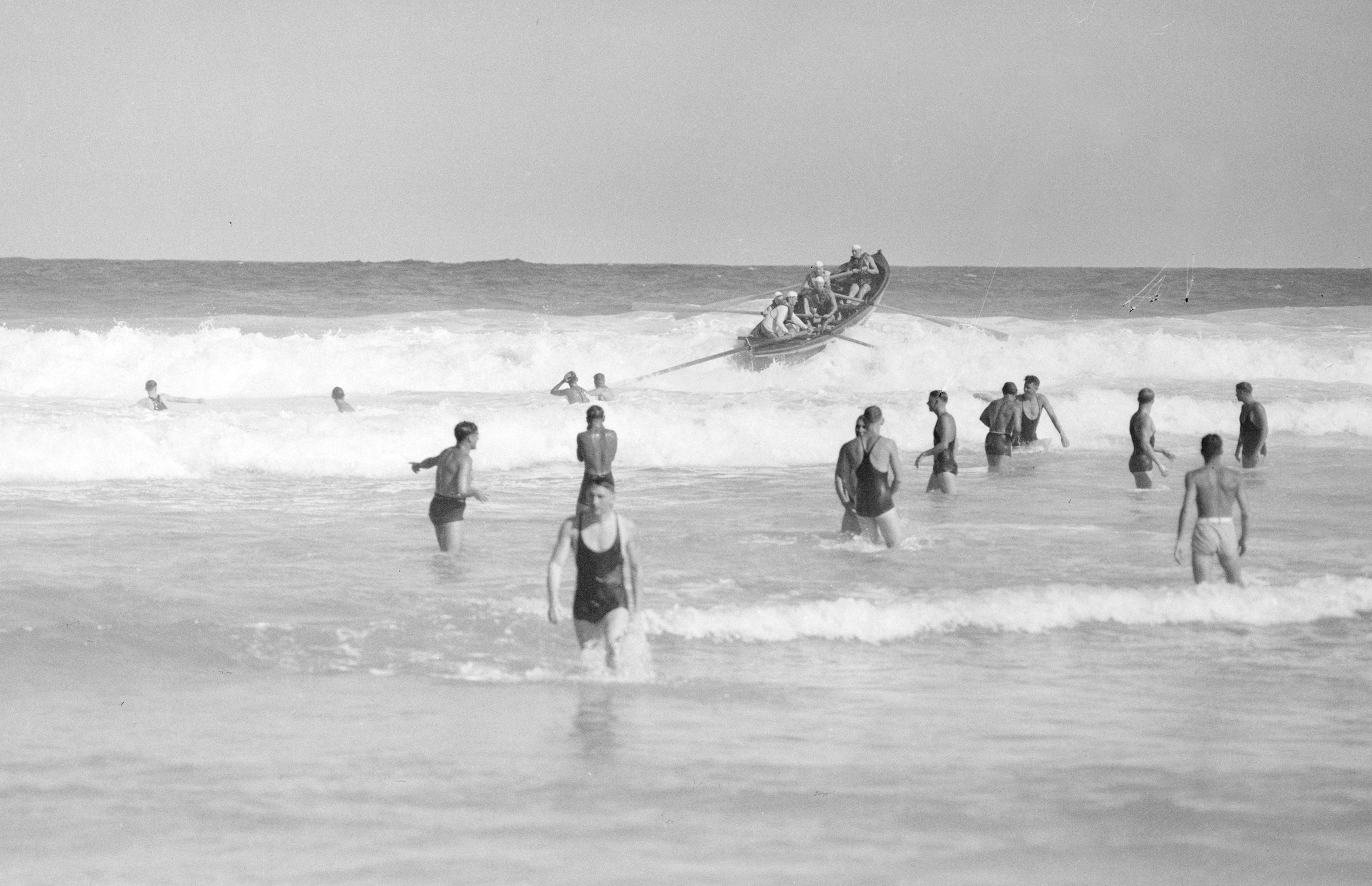 Surf Carnival, Curl Curl, Northern Beaches, Sydney, 1 January 1938