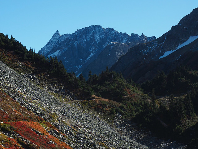 Looking back at Cascade Pass