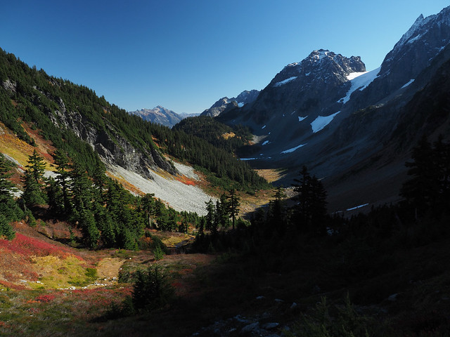 Pelton Basin and Pelton Peak