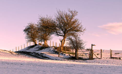 landscape snow shropshire sunset