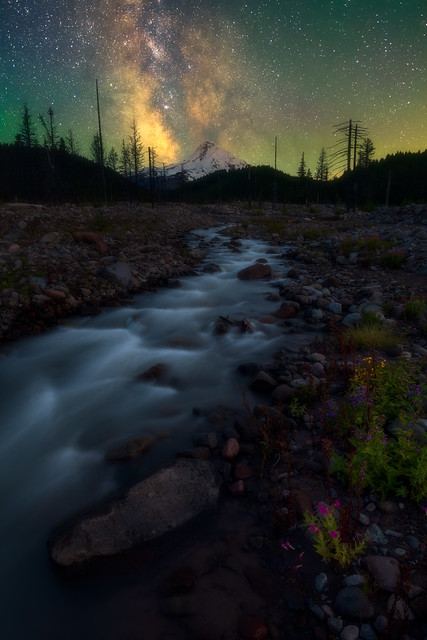 Mt. Hood Wilderness and the Milky Way