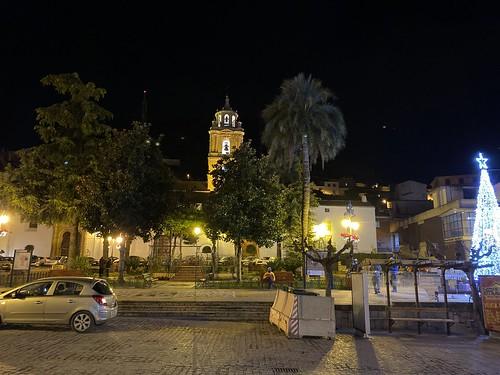 Plaza de la Constitución de Martos de noche. 31 de Diciembre del 2020