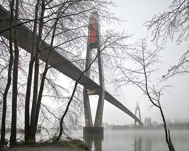 Skytrain Bridge in Winter