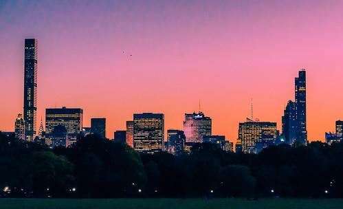 manhattan sunset centralpark nyc newyork skyline