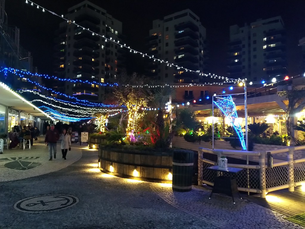 Ocean Village, Gibraltar at night