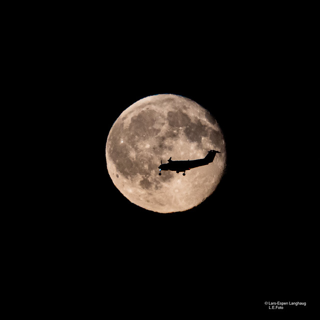 Plane in a moon