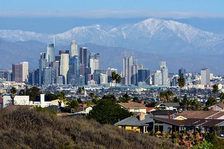 Downtown Los Angeles skyline from Kenneth Hahn Park.