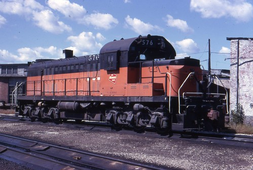576 sits by the North La Crosse roundhouse