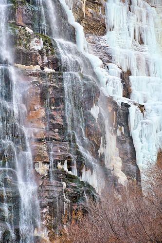 eechillington nikond7500 viewnxi corelpaintshoppro water rocks trees nature utah bridalveilfalls provocanyon