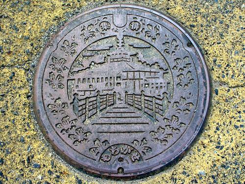 Mochigase Tottori, manhole cover (鳥取県用瀬町のマンホール)