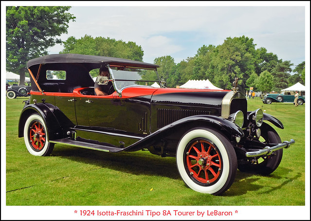 1924 Isotta-Fraschini Tipo 8A Tourer by LeBaron