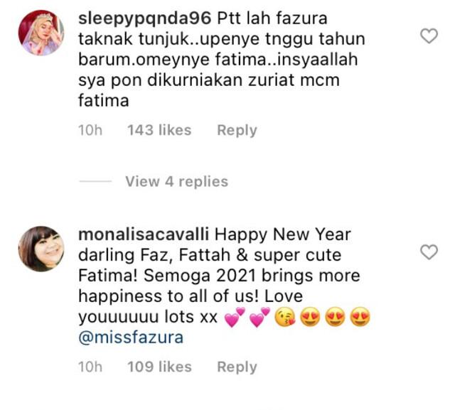 Fazura & Fattah Amin Dedah Wajah Anak Kali Pertama di Awal Tahun Baru 2021