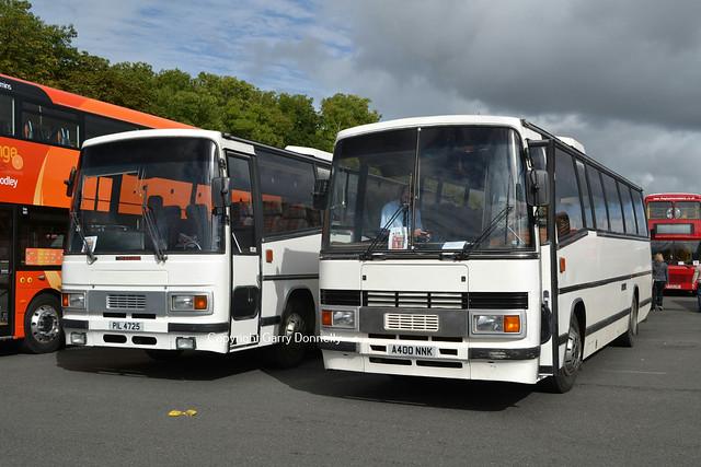 Ex Cleverley, Cwmbran PIL 4725 (B361 DDW) + Ex Trina,Soho A400 NNK
