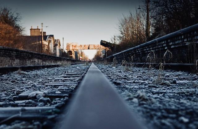 Abandoned Station, Moate Station, Co Westmeath, Ireland.