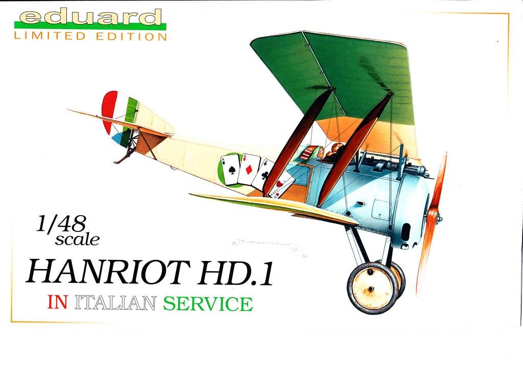 I magnifici (Due Hanriot HD1 italiani, scala 1:48, Eduard) 50786431406_35ebf73449_b