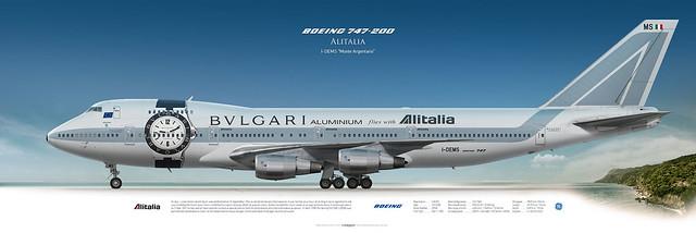 Boeing 747-200 Alitalia