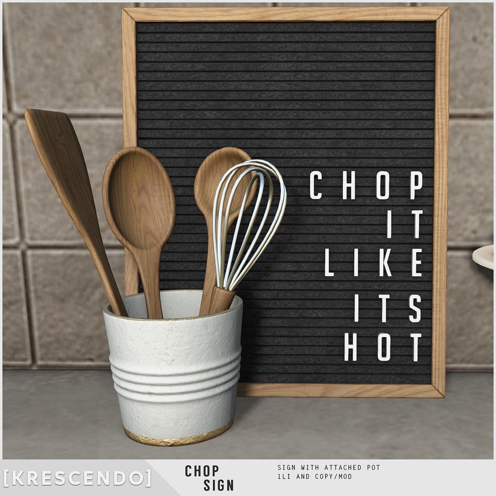 [Kres] Chop Sign