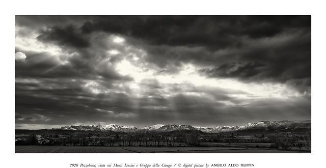 2020  Pozzoleone,  vista  sui Monti Lessini ed il Gruppo  Carega