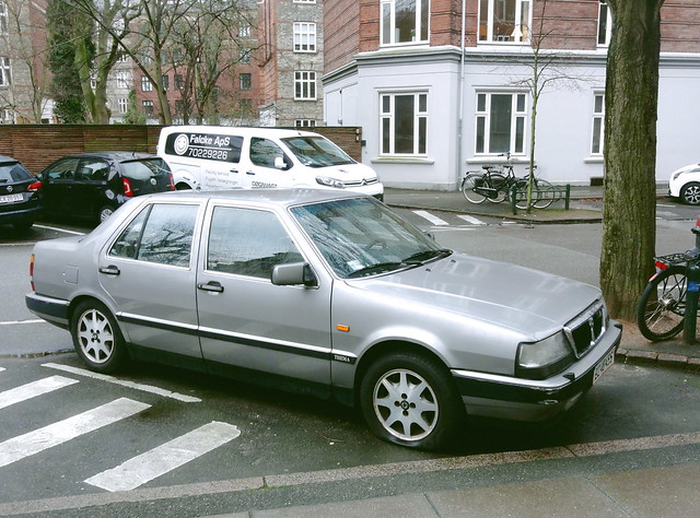 rare Lancia Thema ZZ48455 still on the roads of Denmark