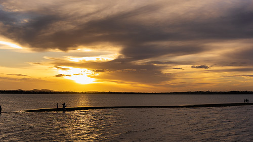 cloudsstormssunsetssunrises clouds sky sunsetsandsunrisesgold sunset sea coast queenslandcoast