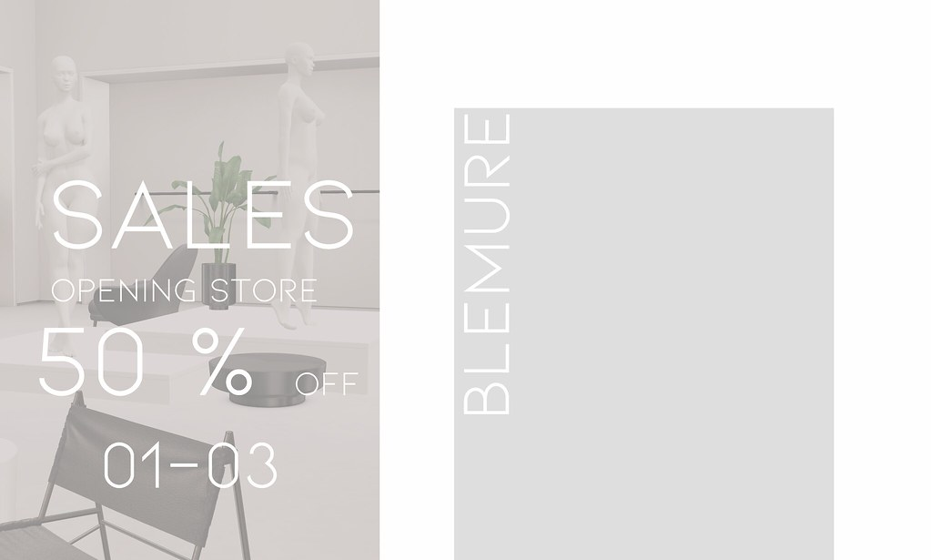 OPENING STORE SALES 50% OFF BLEMURE