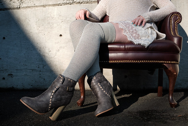 Extraordinary Wool Waffle Thigh Highs