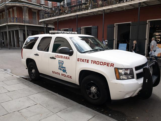 Louisiana State Police vehicle