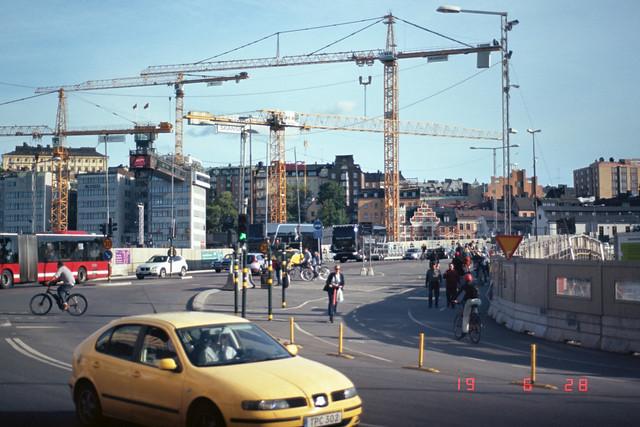 slussen and its cranes