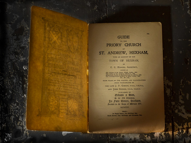 Book - 1913 Guide to the Priory Church of St Andrews Hexham