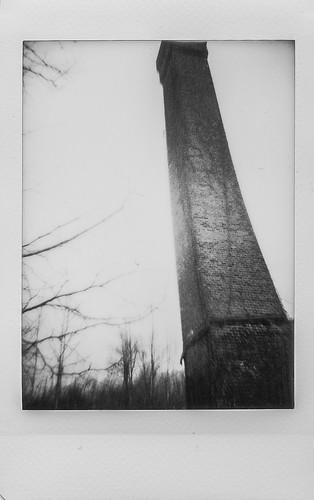 smokestack brick mill abandoned winterlandscape riverdistrict asheville northcarolina lomoinstant instaxminimonochrome blackandwhite monochrome monochromatic urbanlandscape urbandecay