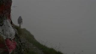 Porzehütte-Hochweißsteinhaus im Nebel