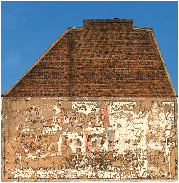 Ghost Sign on Side of Building, Glasgow